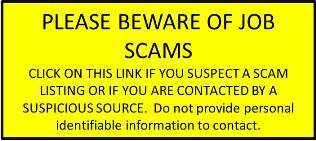 Please do not respond to suspicious job offers.